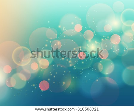 Vector illustration of soft colored abstract background. Blue light - stock vector