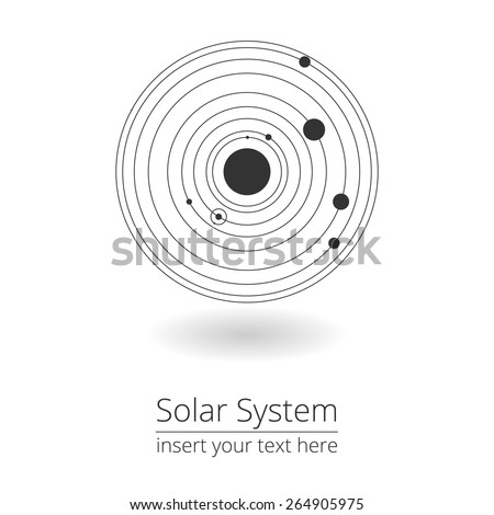 Vector illustration of solar system, design elements, EPS 8 - stock vector