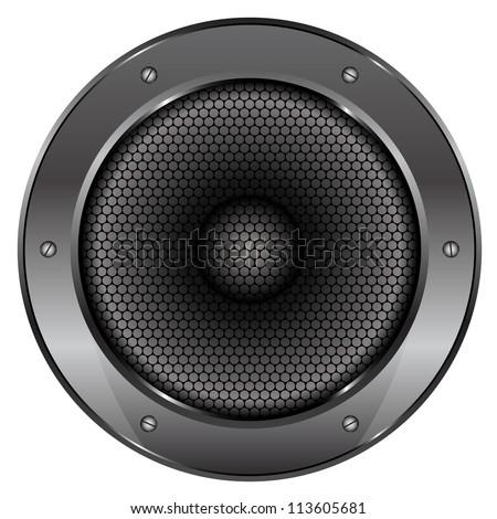 Vector illustration of Sound Speaker - stock vector