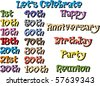 Vector Illustration of Special Birthdays and Occasions. - stock photo