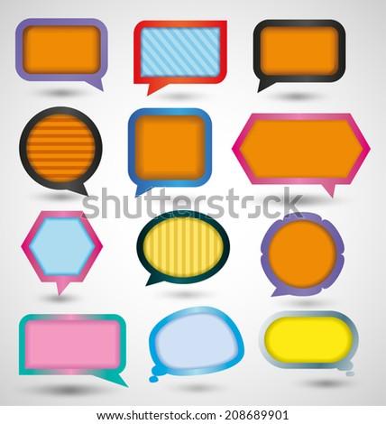 vector illustration of speech bubble set - stock vector