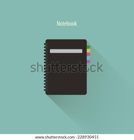 Vector illustration of spiral notebook,Vector EPS10. - stock vector