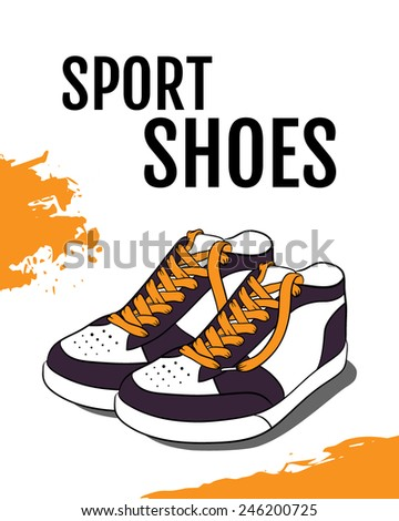 Vector illustration of Sport shoes - stock vector