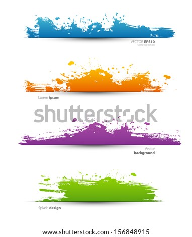 Vector illustration of Spot set - stock vector
