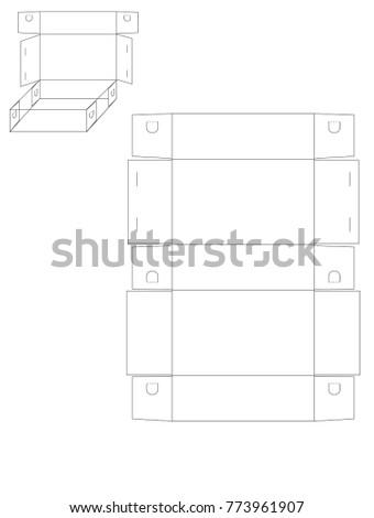 Vector illustration square snack paper box stock vector 2018 vector illustration of square snack paper box template no glue maxwellsz
