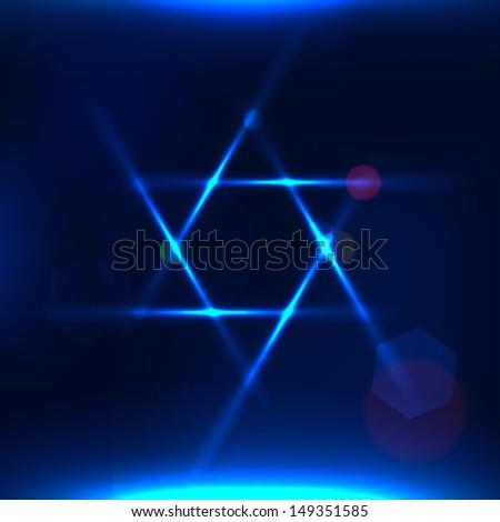 Vector illustration of Star of David - stock vector