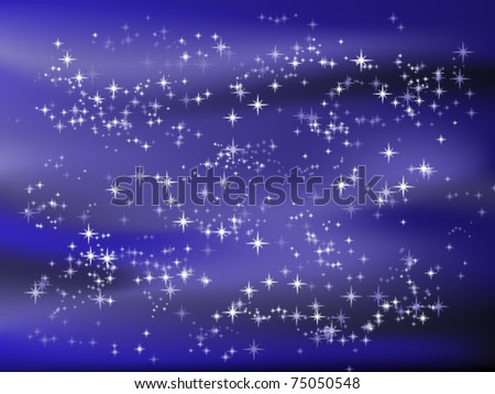 Vector illustration of starry sky - stock vector