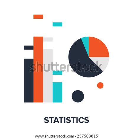 Vector illustration of statistics flat design concept. - stock vector