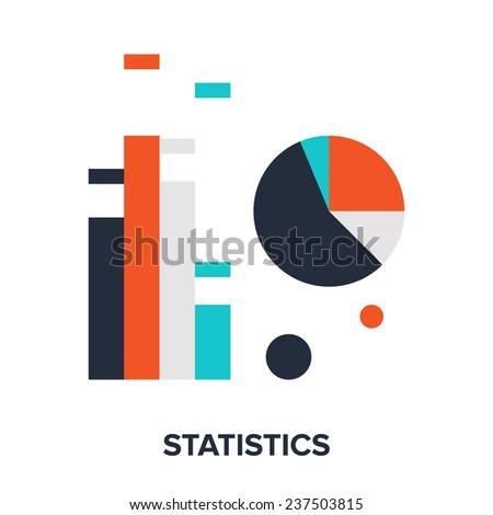 Vector illustration of statistics flat design concept. - stock vector