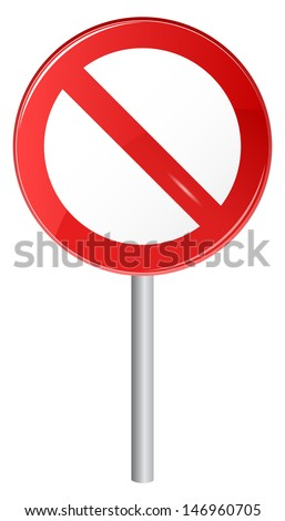 Vector illustration of STOP sign - stock vector