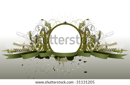 Vector illustration of style  urban grunge frame - stock vector