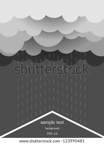 Vector illustration of Stylized sky with clouds - stock vector