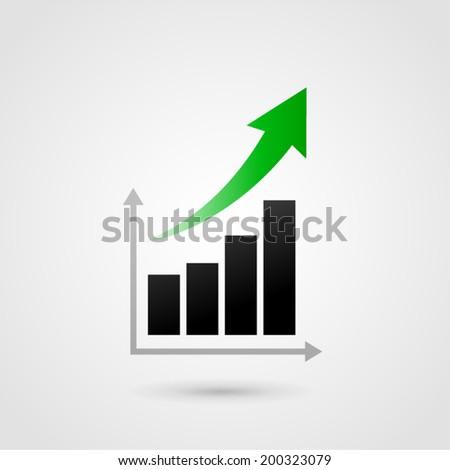 Vector illustration of success graph bars concept - stock vector
