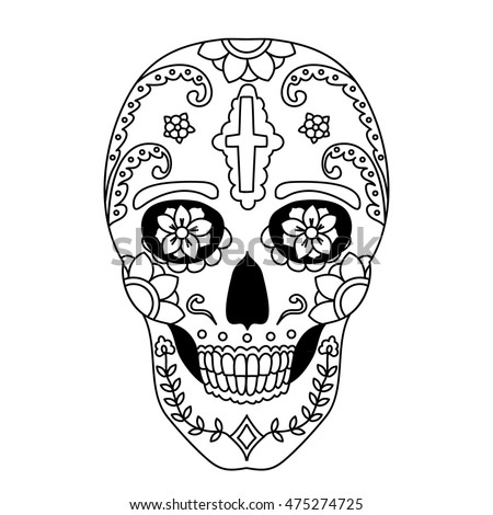 Easy Day Of The Dead Coloring Pages   28 Images   Day Of The Dead .