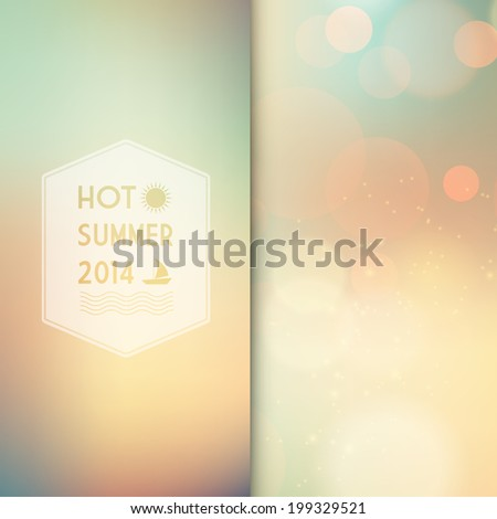 Vector illustration of summer  colored abstract background   - stock vector