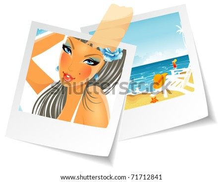 Vector illustration of Summer photo - stock vector
