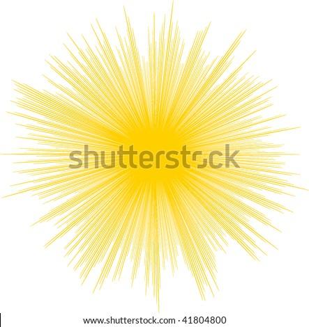Vector illustration of sun. - stock vector
