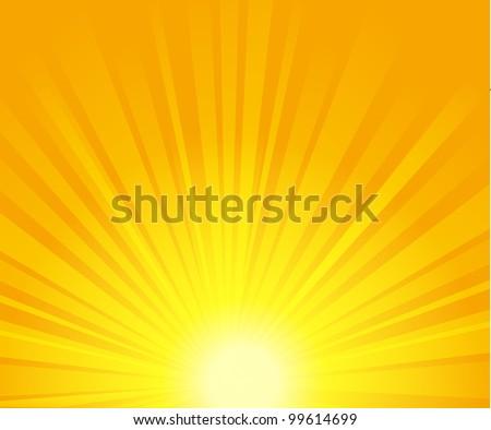 vector illustration of sunburst. EPS 10. - stock vector