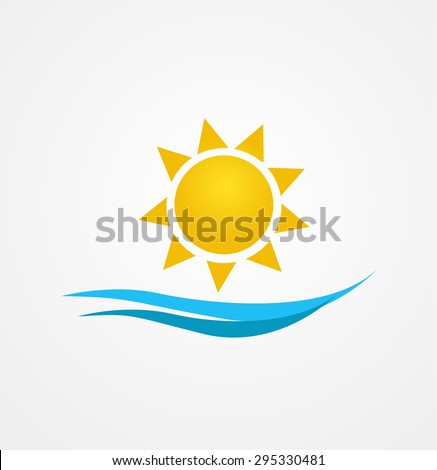 Vector illustration of sunrise sun - stock vector