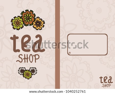 Vector illustration. Of tea accessories. For your design. Suitable for cafes.
