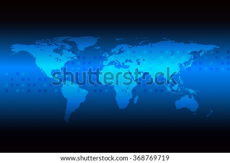 Vector illustration of Technology abstract background for future telecom and data network communication concept around the world