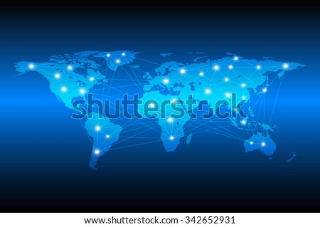 Vector illustration technology abstract network communication stock vector illustration of technology abstract for network communication connection and information transfer around the world freerunsca Gallery