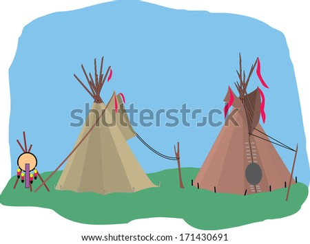 Vector illustration of Teepee