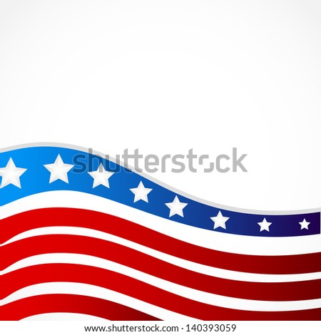 Vector illustration of 4Th of july background