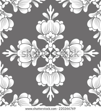 Vector illustration of   thai pattern background - stock vector