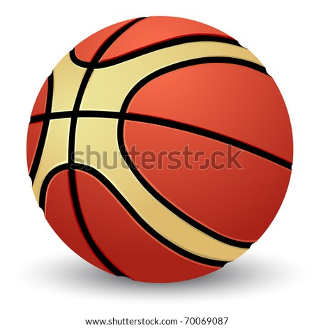 Vector illustration of the basketball - stock vector
