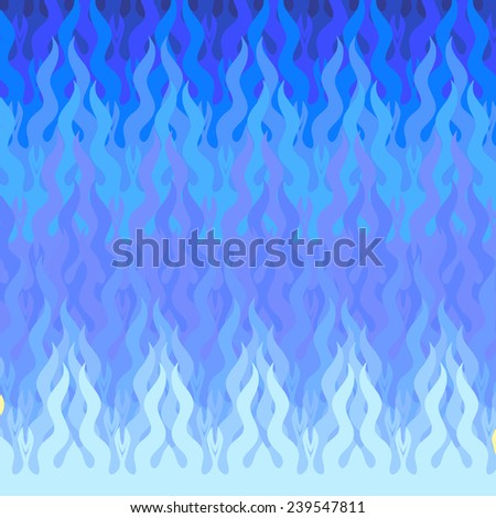 vector illustration of the blue wave background - stock vector