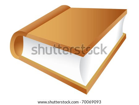 vector illustration of the book - stock vector
