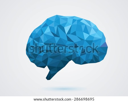 vector illustration of the brain - stock vector