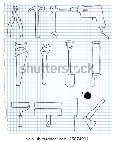 Vector illustration of the building instrument - stock vector