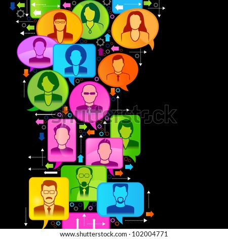 Vector illustration of the concept of people's communication. File is saved in AI10 EPS version. This illustration contains a transparency - stock vector