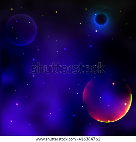Vector illustration of the concept of space - stock vector