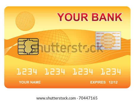 Vector illustration of the credit card - stock vector