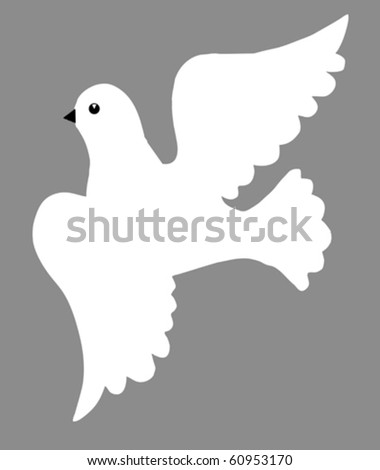 vector illustration of the dove - stock vector