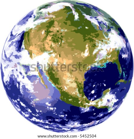 Vector illustration of the earth globe - stock vector