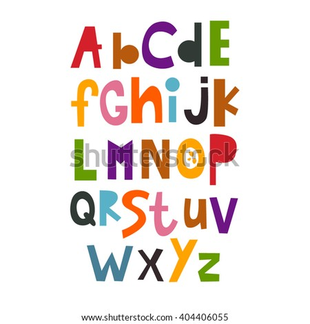 Vector Illustration of the English alphabet. abc. Lettering. Multicolored letters. Education of children. Poster. - stock vector