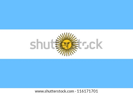 Vector Illustration of the flag of Argentina - stock vector
