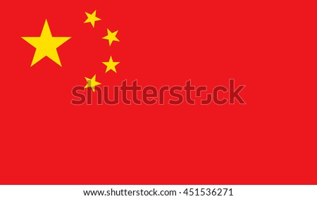 Vector Illustration of the flag of China.