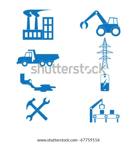 Vector illustration of the icons to industry