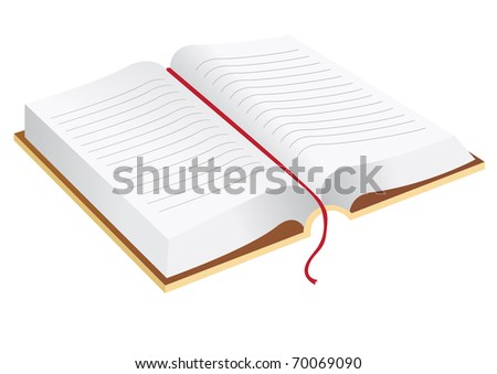 Vector illustration of the open book - stock vector