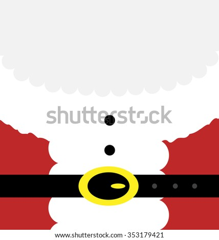 Vector illustration of the Santa's body and beard. Big copy space for your text. - stock vector