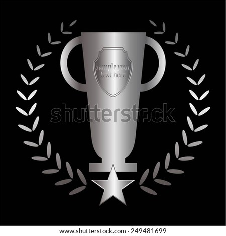 Vector illustration of The Silver Cup.