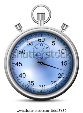 vector illustration of the stopwatch - stock vector