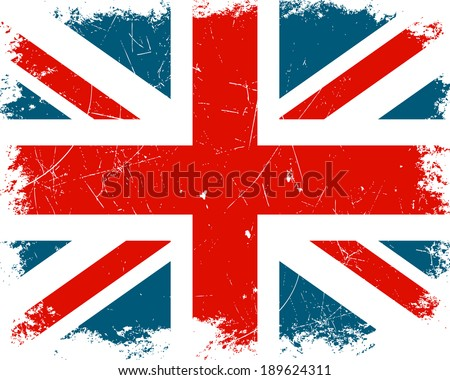 Vector Illustration of the United Kingdom Flag - stock vector