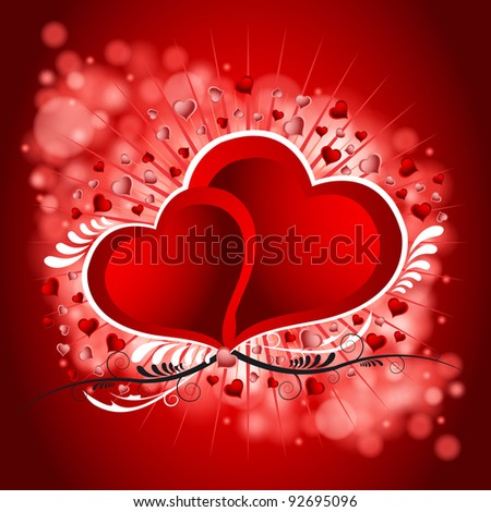 Vector illustration of the Valentines Day background - stock vector