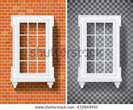 vector illustration of the window with transparent shadow, layered and fully editable